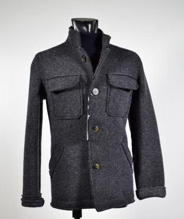 Sports jacket in wool and unlined slim fit