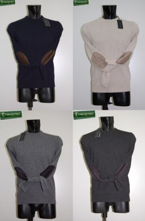 Round neck patches Become slim fit 4 colors