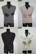 Cardigan with patches slim fit Become 5 Colors