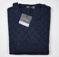 Crew-neck manuel garcia blue inlay united color