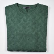 Crew-neck manuel garcia green inlay joined