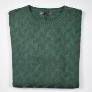 Girocollo manuel garcia verde intarsio unito
