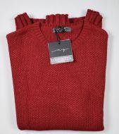 Crew-neck sweater manuel garcia bordeaux mixed wool