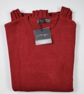 Maglione girocollo manuel garcia bordeaux misto lana