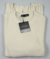 Crew-neck sweater manuel garcia ecru mixed wool