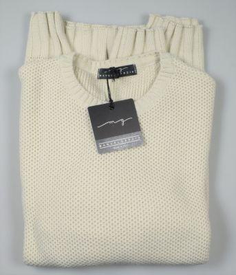 Maglione girocollo manuel garcia ecru misto lana