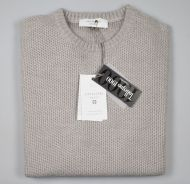 Crew-neck sweater color dove cavalieri milano modern fit