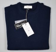 Blue crew-neck sweater knights milan modern fit
