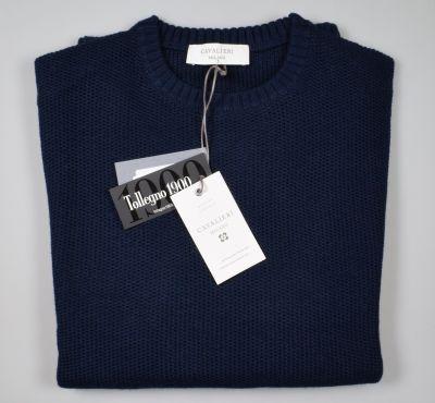 Maglione paricollo blu cavalieri milano modern fit