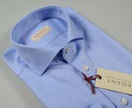 Blue shirt slim fit pancaldi cotton oxford high quality
