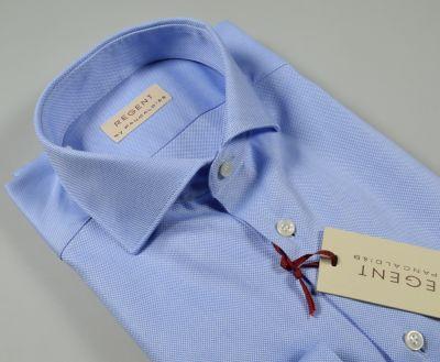 Camicia azzurra slim fit pancaldi cotone oxford alto pregio