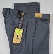 Dark grey sea barrier trousers in modern fit stretch satin cotton