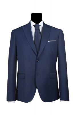 Blue slim fit simbols dress with lance chest