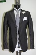 Black dress half tight Luciano Soprani slim fit with waistcoat and tie