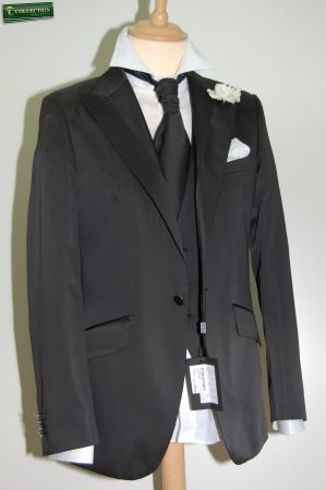 Dress ceremony Luciano Sopranos black with waistcoat and tie