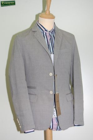 Fashion Jacket washed grey cotton John Barritt