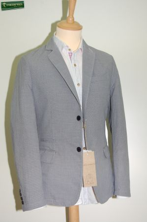 Fashion Jacket washed cotton micro blue picture
