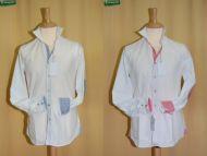 Camicia bianca slim fit con toppe Ingram