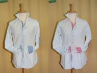White slim fit shirt with patches Ingram