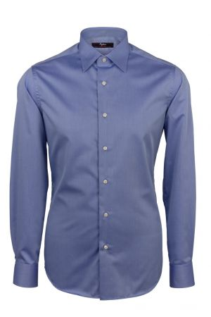 Ingram cottonstir twill cotton slim fit shirt blue