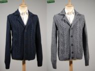 Cardigan jacket with patches ocean star
