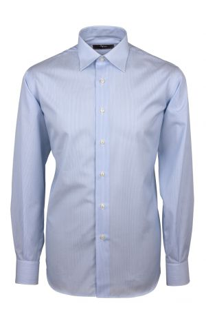 Cottonstir shirt light blue lines thousand ingram