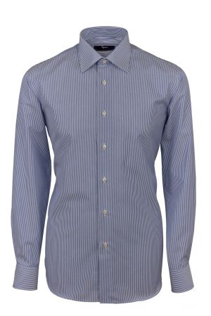 Cottonstir Ingram shirt with blue stripes regular fit