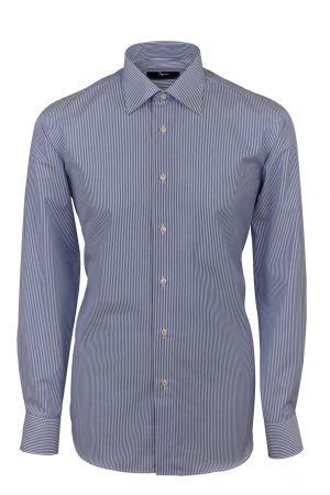 Cottonstir Ingram shirt with blue stripes regular fit