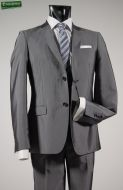 Glossy grey slim fit dress john barritt
