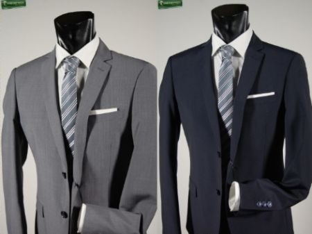 Classic drop six dress gray or blue john barritt