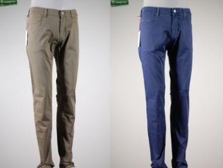 Jeans in cotone piquet delave' trussardi jeans