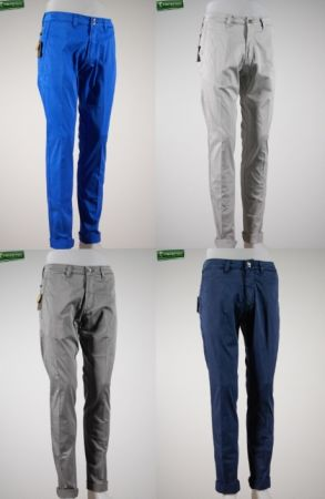 Fradi pants in stretch satin four colors