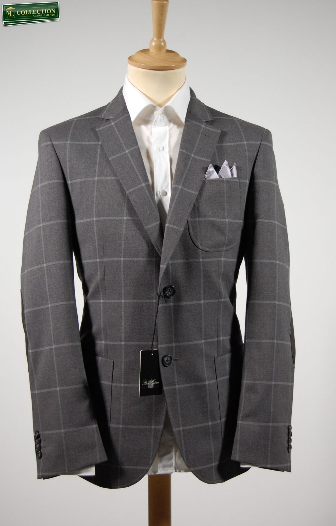 c6dae56e7a Giacca blazer uomo grigio a quadroni piero giachi saldi outlet ...