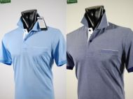 No iron pole bramante in two colors with one breast pocket