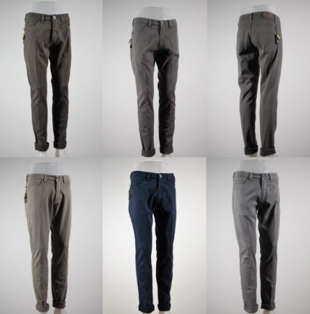 Jeans cinque tasche fradi in vari colori