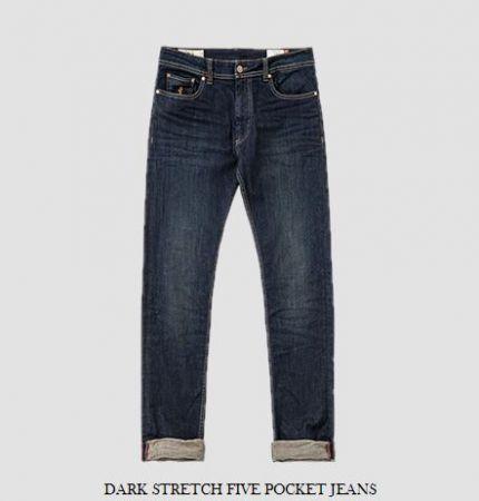 Jeans mcs cotone stretch con risvolti