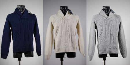 Shawl collar sweater ocean star