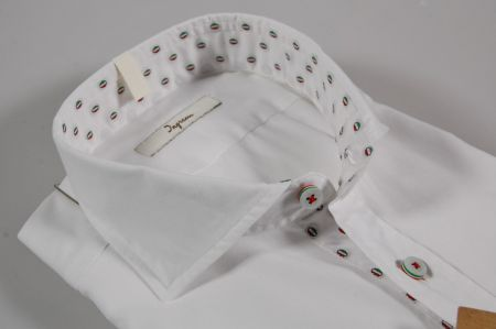 Camicia bianca ingram slim fit collo francese