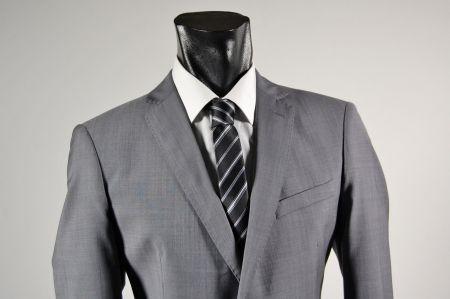 Abito john barritt grigio medio in fresco lana