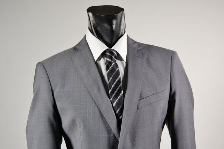 John barritt mid-gray suit cool wool