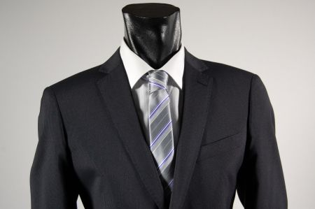Pinstripe blue suit john barritt stretch