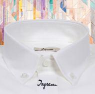 White Shirt Ingram Neck button down with regular fit pocket