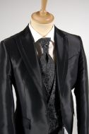 Black ceremony dress complete with waistcoat and tie luciano soprani