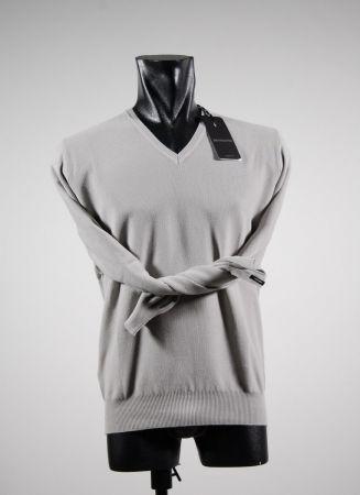Pull sweater v bramante rice grain in pure cotton