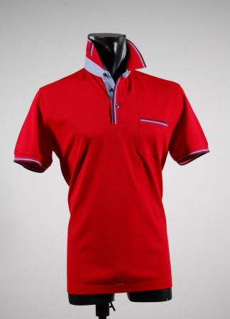 Pique cotton polo shirt with pocket mg in five colors