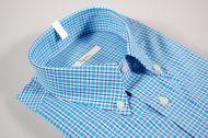Camicia ingram a quadri azzurro button down