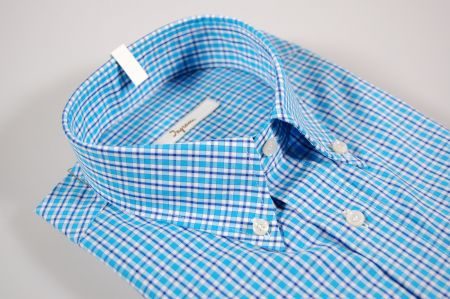 Camicia ingram a quadri azzurro button down
