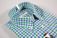 Camicia a quadri ingram collo button down in due colori