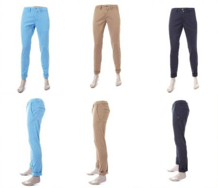 Sports stretch cotton pants fradi in six colors