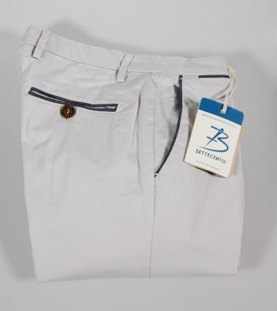 Bsettecento pants in stretch cotton four-color
